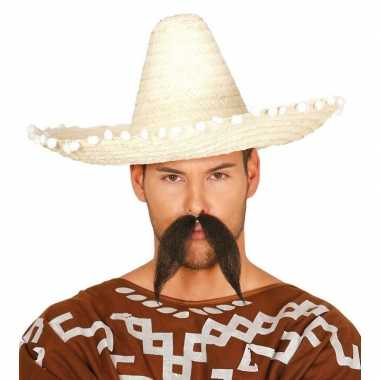 Naturel sombrero/mexicaanse hoed 45 cm voor volwassenen
