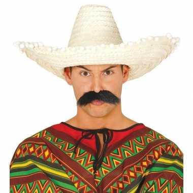 Naturel sombrero/mexicaanse hoed 50 cm voor volwassenen