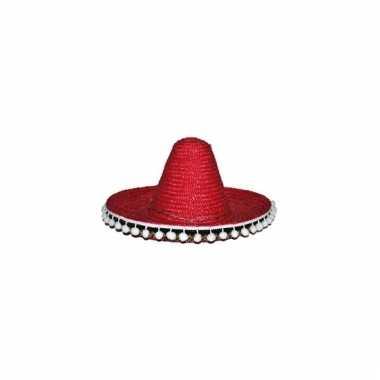 Rode sombrero 40 cm voor volwassenen