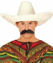 Naturel sombrero mexicaanse hoed 50 cm voor volwassenen