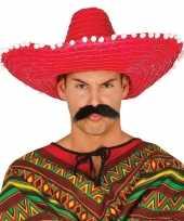 Rode sombrero mexicaanse hoed 50 cm voor volwassenen