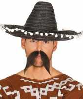 Zwarte sombrero mexicaanse hoed 45 cm voor volwassenen